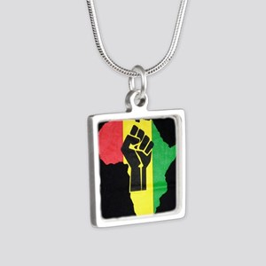 Pan Africa Silver Square Necklace
