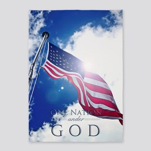One Nation Under God 5'x7'Area Rug