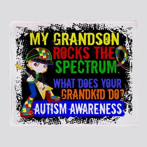D Grandson Rocks The Spectrum Autism Throw Blanket