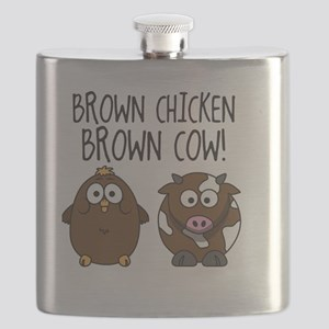 Cute Brown Chicken Brown Flask