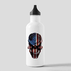 flag_skull_dark_Flag_L Stainless Water Bottle 1.0L