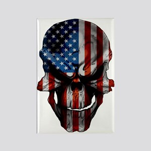 flag_skull_dark_Flag_Large Rectangle Magnet