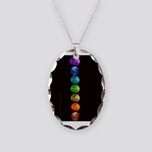 Chakra Moons Necklace Oval Charm