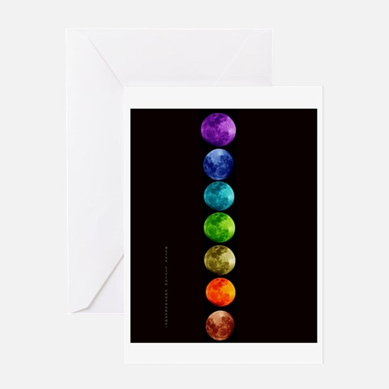 Chakra Moons Greeting Card