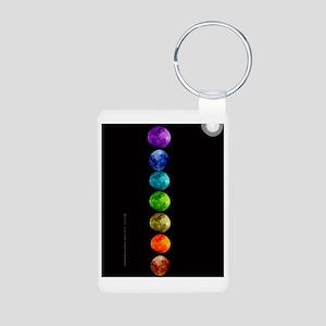 Chakra Moons Aluminum Photo Keychain