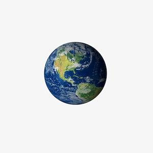 Planet Earth Mini Button