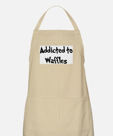 Addicted to Waffles BBQ Apron