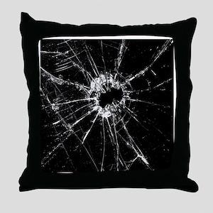 Broken Glass 1 Throw Pillow