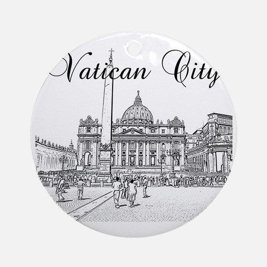 VaticanCity_12X12_SaintPetersSquare Round Ornament