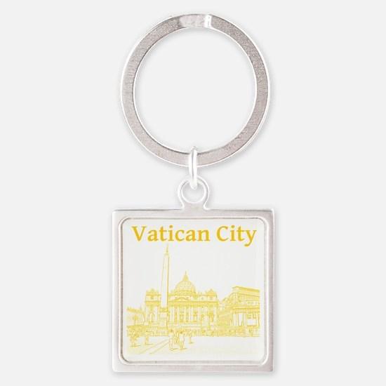 VaticanCity_12X12_SaintPetersSquar Square Keychain