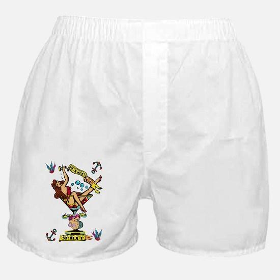 pin up,bottoms up! Boxer Shorts