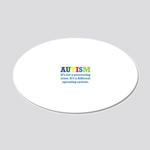 Autism awarness 20x12 Oval Wall Decal