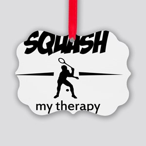 Squash vector designs Picture Ornament