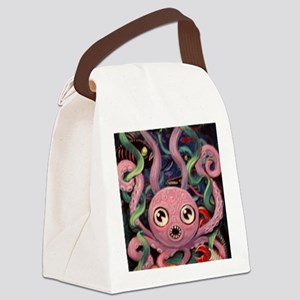 Hungry Octopus Canvas Lunch Bag