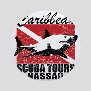Caribbean Scuba Tours Round Ornament