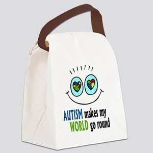 Autism makes my World go round Canvas Lunch Bag