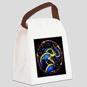 Blue Ribbon Eel Canvas Lunch Bag
