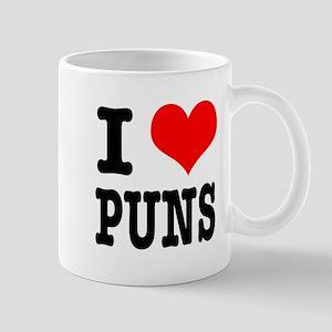 I Heart (Love) Puns Mug