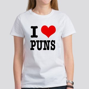 I Heart (Love) Puns Women's T-Shirt