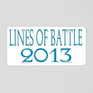 Lines of Battle Aluminum License Plate