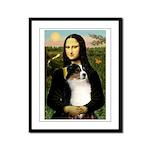 MonaLisa-Tri Aussie Shep2 Framed Panel Print