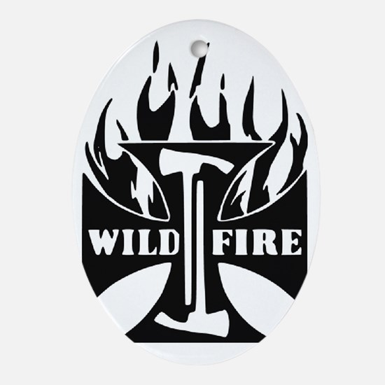 WildFire Iron Cross Pulaski Oval Ornament