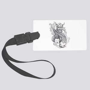 Viking Carp Geisha Head Tattoo Luggage Tag
