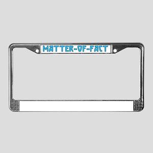 matter-of-fact License Plate Frame