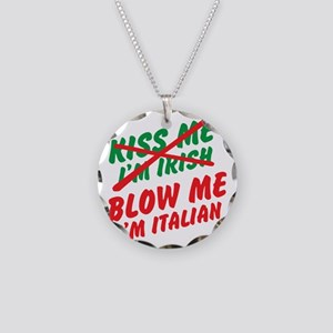 Don't Kiss Me Necklace Circle Charm