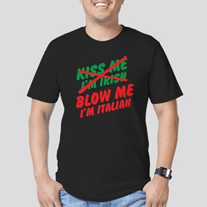 Don't Kiss Me Men's Fitted T-Shirt (dark)