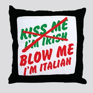 Don't Kiss Me Throw Pillow