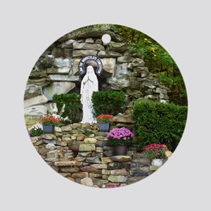 Our Lady of Lourdes Shrine in the F Round Ornament