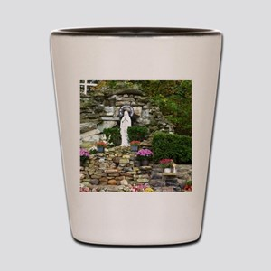 Our Lady of Lourdes Shrine in the Fall Shot Glass