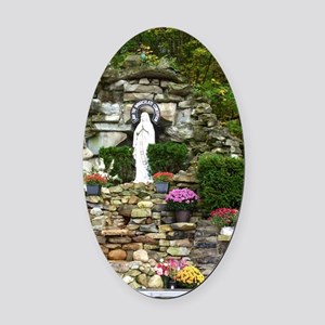Our Lady of Lourdes Shrine in the  Oval Car Magnet