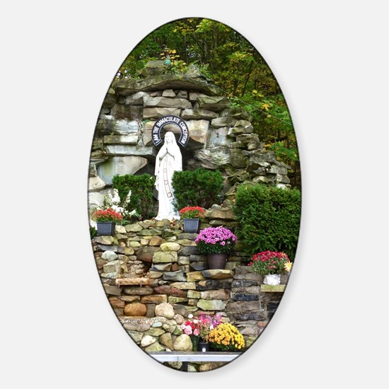 Our Lady of Lourdes Shrine in the F Sticker (Oval)