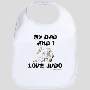 MY DAD AND I LOVE JUDO Bib