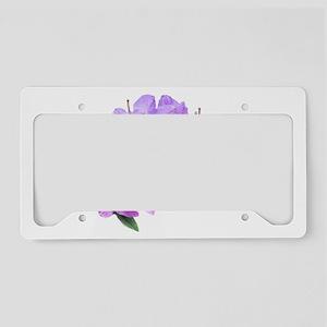 Purple azalea flowers License Plate Holder