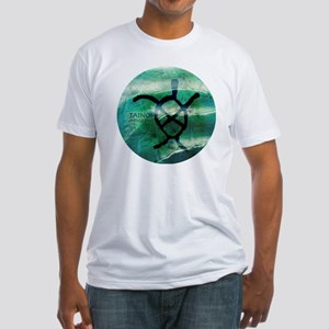 Taino Turtle Symbol Fitted T-Shirt