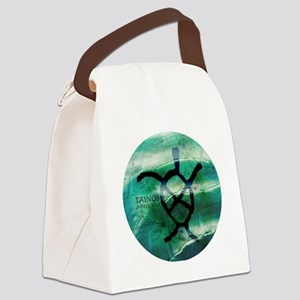 Taino Turtle Symbol Canvas Lunch Bag