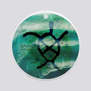 Taino Turtle Symbol Round Ornament