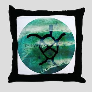 Taino Turtle Symbol Throw Pillow