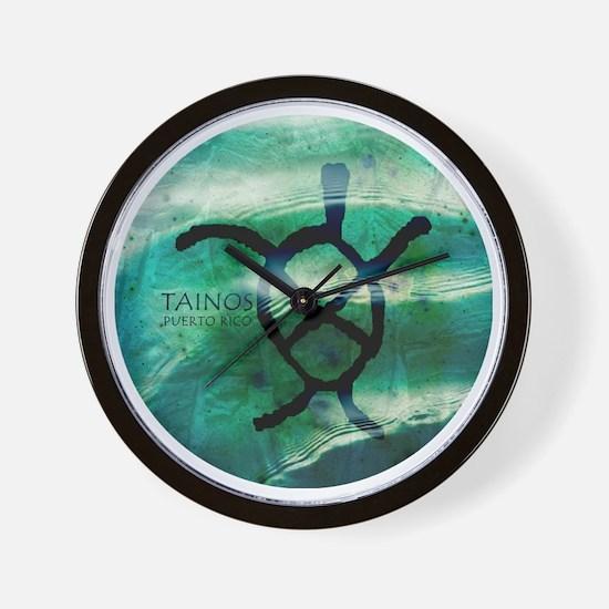 Taino Turtle Symbol Wall Clock