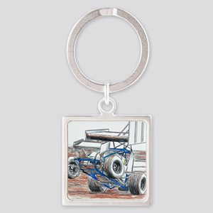 Wheel stand Square Keychain