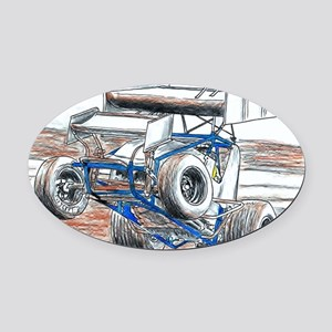 Wheel stand Oval Car Magnet