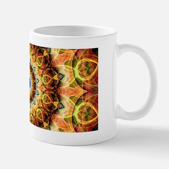 Ochre Burned Glass Mandala Mug