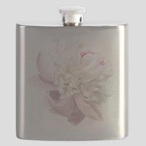 Elegant White Peony Flask