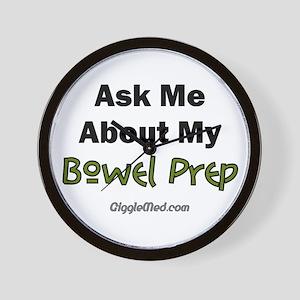 Bowel Prep Wall Clock