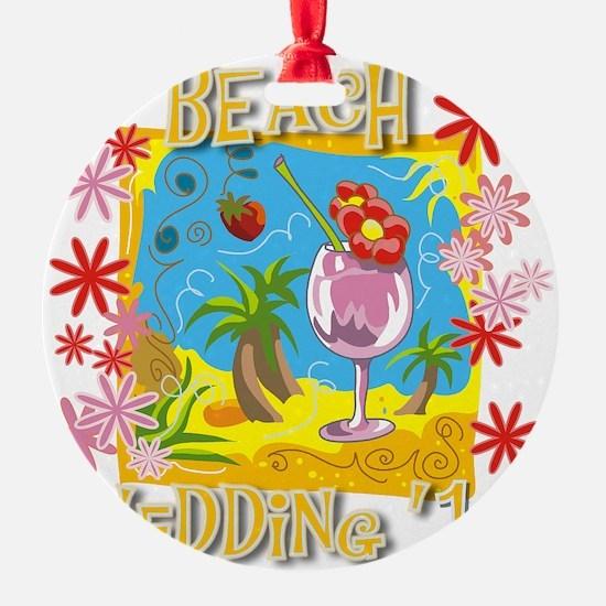Beach Wedding 13 Ornament