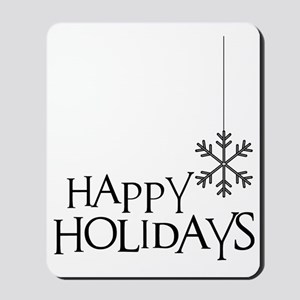 Simple Wishes Happy Holiday Snowflake Mousepad