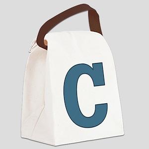 Alphabet C Canvas Lunch Bag